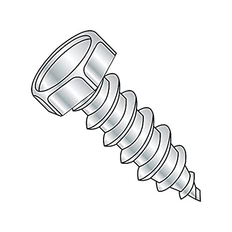 1-1//4 Length Pan Head #8-15 Thread Size Small Parts 0820AQP Type A Pack of 100 Square Drive Pack of 100 1-1//4 Length Steel Sheet Metal Screw Zinc Plated