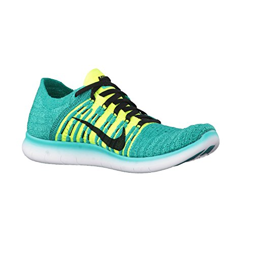 Nike Herren Free Rn Flyknit (Gs) Laufschuhe Verde (Verde (clear jade/black-volt-rio teal))