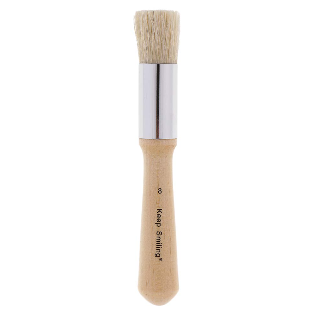Pure 14cm Home Decor Art Crafts Paint Brush,Wood Large Brushes with Natural Bristles Stencils Brushes SM SunniMix Professional Chalk Painting Furniture