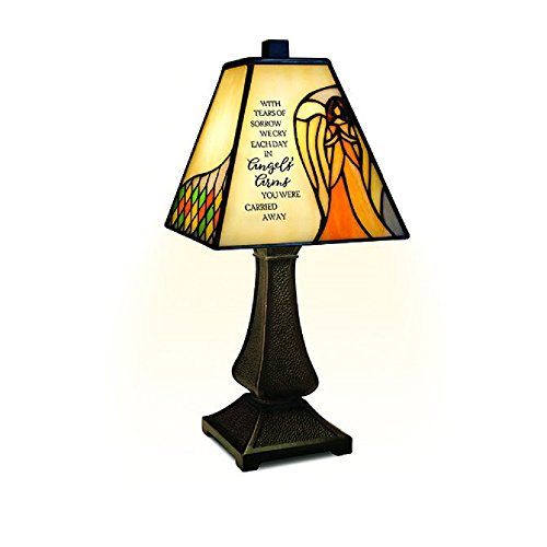 Table Angels Tiffany Lamp (Carson Angels Arms Memorial Lamp Home Decor)