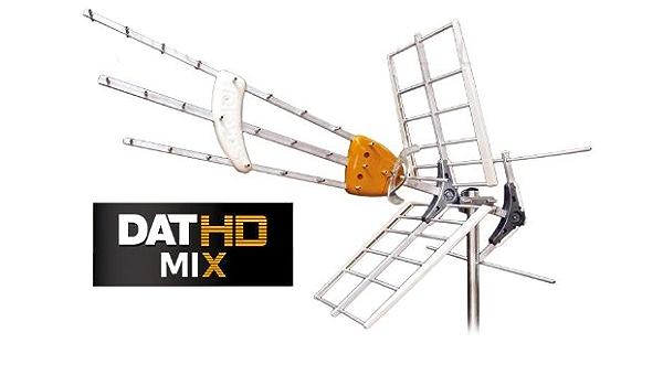 Antena TDT -UHF/VHF DAT HD Mixta con MRD (Caja ...