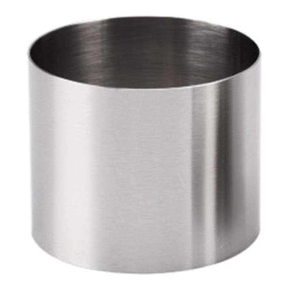Yamalans 2 inch Round Stainless Steel Mousse Mold Cake Ring Ring,Cookie Seamless Slicer Cutter Bakeware Baking Tool Silver 2 Inch