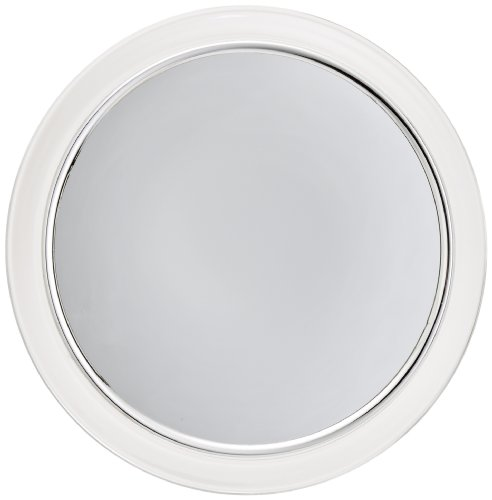- Jerdon JPFM9 9-Inch Fogless Suction Shower Mirror with 3x Magnification, Chrome and Acrylic Finish
