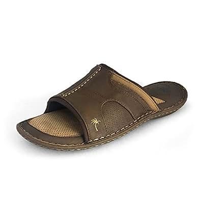 Margaritaville Footwear Men's Leather Slide (9)