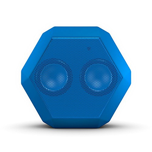 Boombotix Boombot REX Wireless Ultraportable Weatherproof Bluetooth Speaker for iPods Smartphones Tablets and Laptops - Electric Blue
