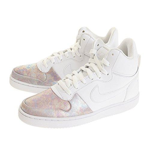 Nike Court Arrondissement Mi Prem Femmes Blanc / Blanc-rose Or