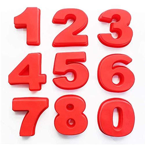 9 stuks siliconen bakken nummer taart mal-grote siliconen nummer DIY voor verjaardag verjaardag 0-8 cake tin mal