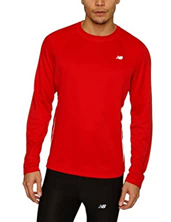 New Balance Men's Tempo Tee, Chinese Red, XX-Large