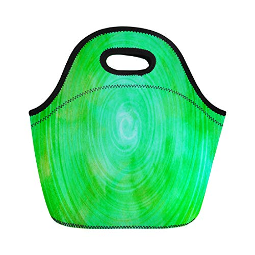 Lime Lunch - Ablitt Lunch Bags Colorful Neon Lime Green Watercolor Abstract Bright neoprene lunch bag lunchbox tote bag portable picnic bag cooler bag