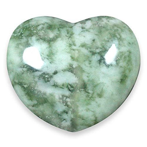 - New Jade Crystal Heart - 4cm