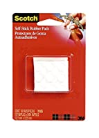 3M Self-Stick Pads 1/2 in. x 1/8 in. clear rubber pads pack of 18 751NA
