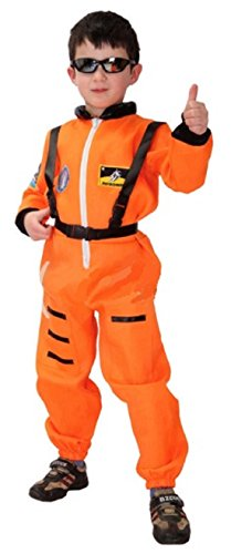 [ShonanCos Heroic Astronaut Cosplay Children Kids Costumes Space Suits Uniform (Orange)] (Maleficent Toddler Costumes)