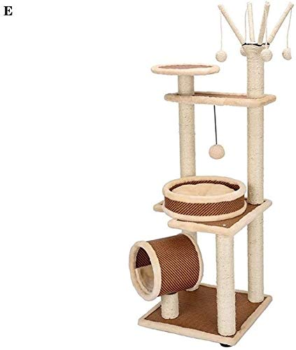 FTFDTMY Indoor Sisal Cat Klettergerüst, Massivholz Kratzbaum Cat House Einteiliges Katzenspielzeug Pet Shop Cat Scratch…