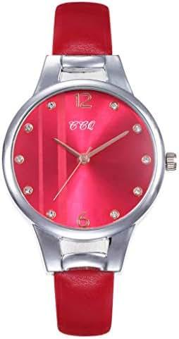 Ultramall BC117 Women's Casual Quartz Leather Band Newv Strap Watch Analog Wrist Watch