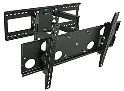 "Mount-It! Articulating TV Wall Mount for 32"" - 65"" LCD/LED/Plasma Flat Screen TVs, Full Motion, 165 Lbs Capacity, Black (MI-2291)"