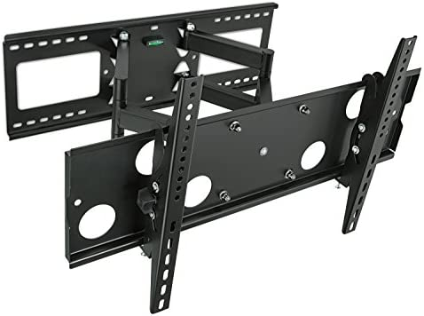 Mount-It Heavy Duty Full Motion TV Wall Mount for 16 , 18 , 24 Wood Studs, Fits 32 – 65 LCD LED Plasma Flat Screen Curved TVs up to 165 lbs Includes HDMI Cable MI-2291