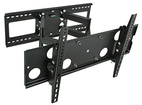 "Mount-It! Articulating TV Wall Mount for 32"" – 65"" LCD/LED/Plasma Flat Screen TVs, Full Motion, 165 Lbs Capacity, Black - Sharp Tv Led 42"