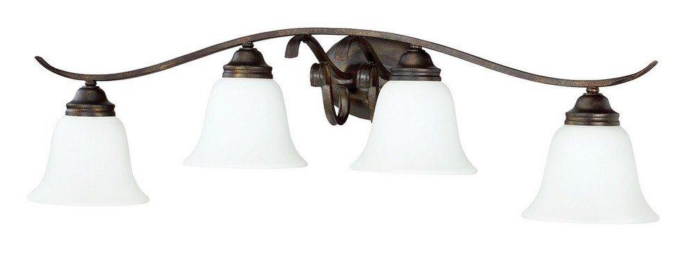Craftmade 29004-BBZ-WG Four Light Vanity