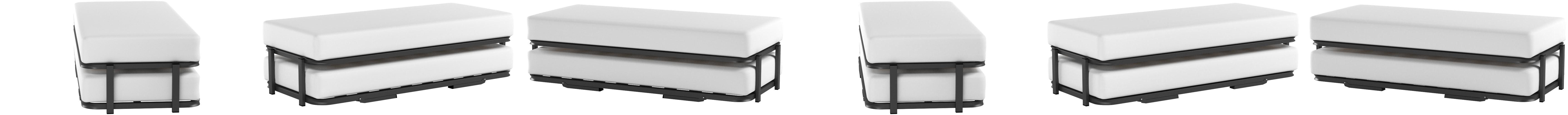 Hogar 24 Cama Nido Metálica Reforzada, 4 Patas, 80x180