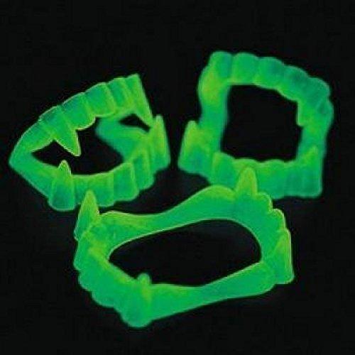 Fun Express - Glow-in-the-Dark Vampire Fangs, (5-Pack of