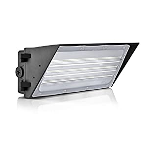 Hyperikon LED Wall Pack 60W Cutoff Fixture, 420W HPS/HID Replacement, 5000K, 7,800 Lumens, Waterproof and Outdoor Rated, DLC 4.2 & UL Listed