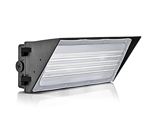 Hyperikon LED 60W Wall Pack Fixture, 420W HPS/HID Replacement, 5000K, 7,800 Lumens, Waterproof and Outdoor Rated, DLC 4.2 & UL - 120v 420w Lamp