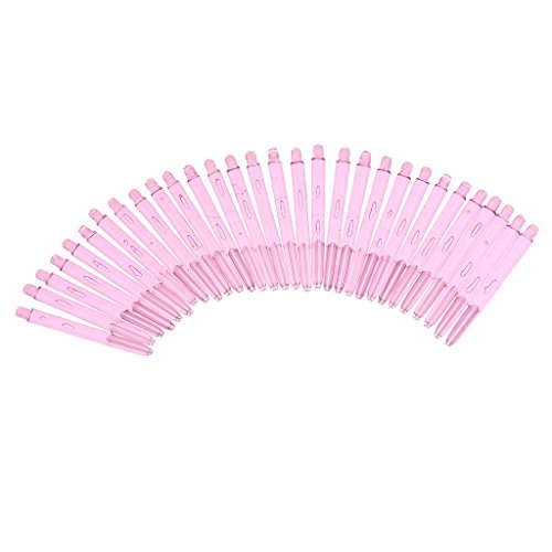 (Homyl 30 Pieces Universal Plastic 2BA Dart Shafts Replacement Dart Stems for Soft Tip Darts and Steel Tip Darts -Assorted Color Choice - Pink)