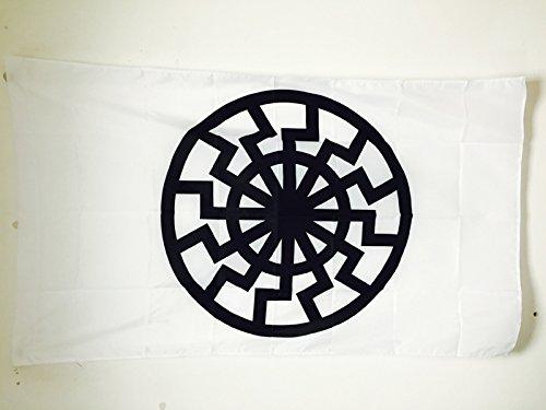 BLACK SUN FLAG 3' x 5' for a pole - SONNENRAD FLAGS 90 x 150