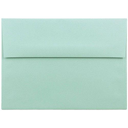 JAM PAPER A7 Premium Invitation Envelopes - 5 1/4 x 7 1/4 - Aqua Blue - 50/Pack
