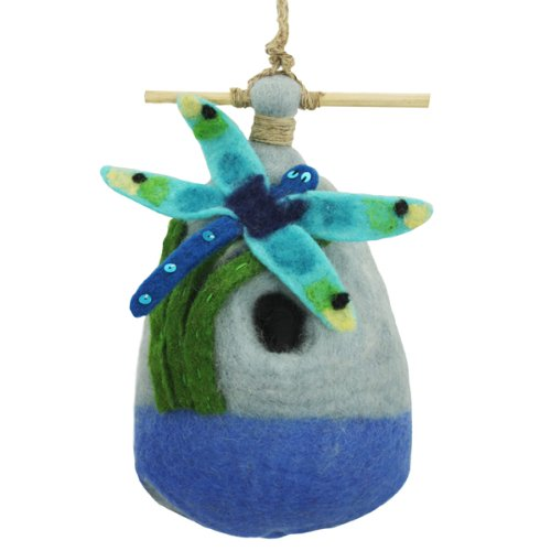 Dragonfly Bird House (Bird House, Felt (Sheep's Wool); Big Dragonfly; 9