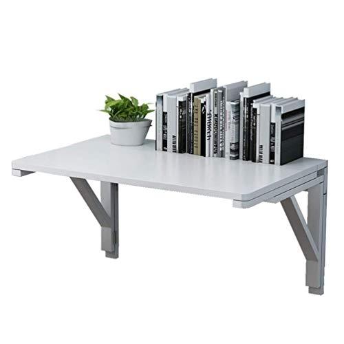 LEILEI Mesa de Pared Plegable Mesa de Pared de Madera Maciza Mesa de Comedor para Espacios pequenos Escritorio de computadora Plegable Escritorio de Aprendizaje Blanco 10 tamanos