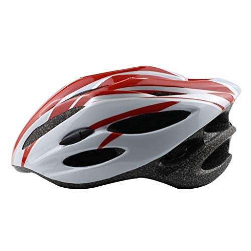 Lxhff JIE KE Skate Helmet Adult Children Roller Shoes Bicycle Safety Hat Adult Men and Women Adjustable Size Helmet (Color : RED) from Lxhff