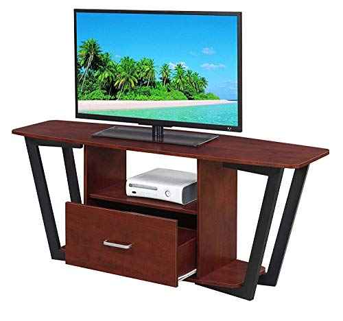 Convenience Concepts Graystone 60 TV Stand, Cherry Black Frame