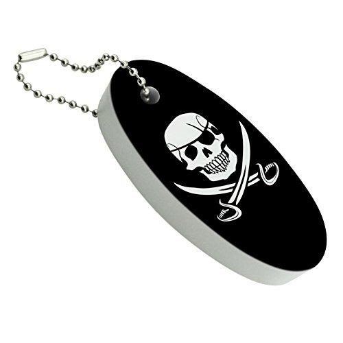 Pirate Cráneo Cruzado Espadas Jolly Roger flotante de espuma Llavero barco de pesca boya Key Float