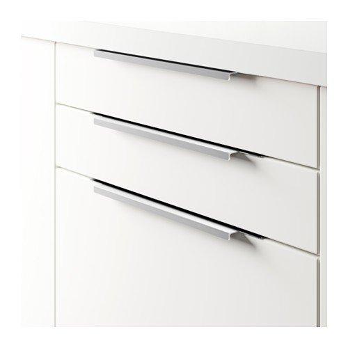 IKEA Handle BLANKETT 395 MM Silver Pack of 2: Amazon.co.uk ...