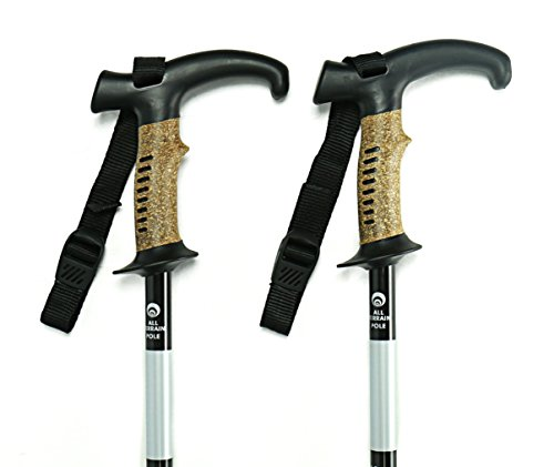 ay Trekking Poles Pair for Walking, Hiking, Climbing. Ultralight Aluminum Adjustable Height & Telescoping Sticks with Composite Cork Grips, and Replaceable Tungsten Tips (Trekking Pole Height)