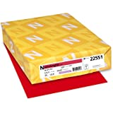 Neenah Astrobrights Premium Color Paper, 24 lb, 8.5 x 11 Inches, 500 Sheets, Re-Entry Red