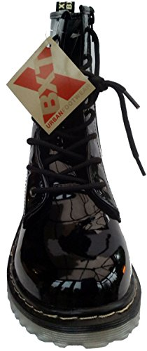 BXT Womens Boots in Black Patent tbjUcpue