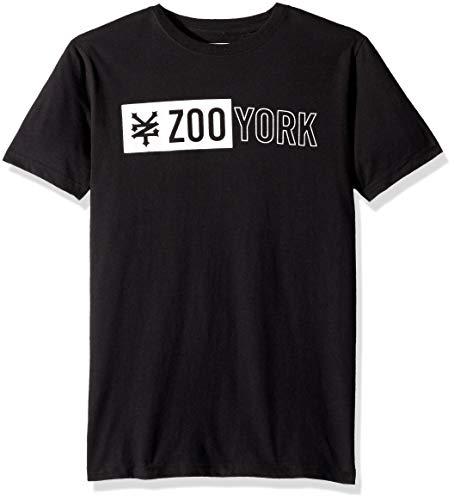 Zoo York Boys' Big Short Sleeve Graphic TEE, Black, Medium (10/12)