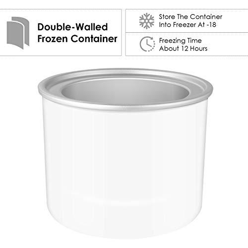 Ice Cream Maker-MVPower 2.1Quart Frozen Yogurt & Sorbet Maker Machine,12W. by Mvpower (Image #1)