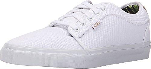 Vans CHUKKA LOW Aloha White Twill Skateboard Shoes-Men 8.0, Women 9.5