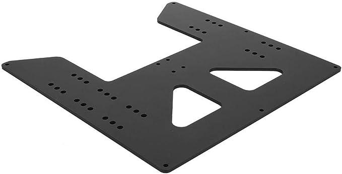 ASHATA Kit de Placa de Soporte de Cama Caliente Y Axis con Placa anodizada de Carro Y de 3 mm Impresora 3D de Cama Caliente MK1//2//A//B Bloque Deslizante SC8UU P8 para Variantes Prusa i3