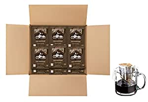 Twin Peaks Coffee Honduran Single Serve Pour Over Drip Bag Medium Roast Coffee - 100 Single Cup Pouches