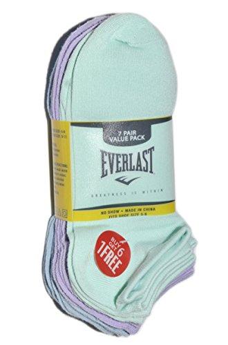 Everlast Women's basic no-show atheletic socks, 7 pairs