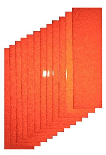 Motorcycle ATV Orange Reflective Adhesive Vinyl Tape 3.5