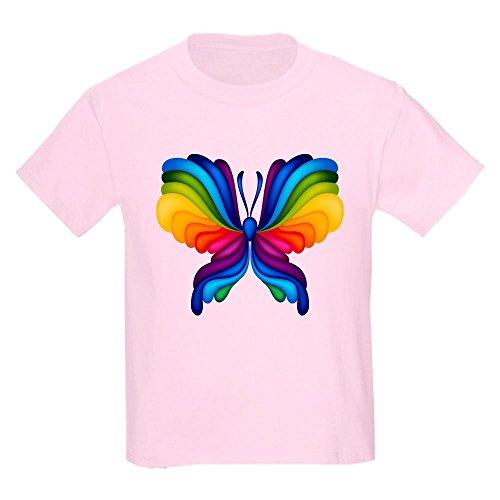 Truly Teague Kids Light T-Shirt Rainbow Butterfly - Light Pink, XL