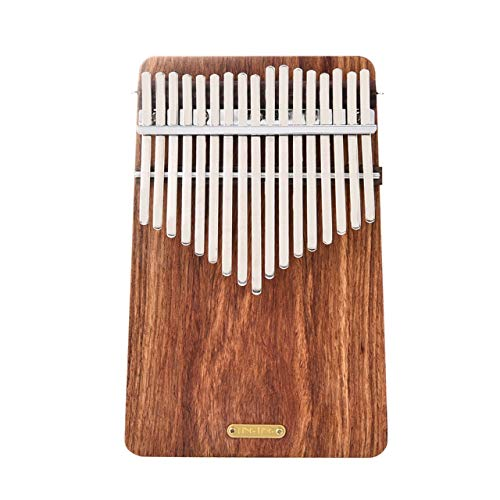 Durable 17 Key Kalimba Thumb Piano Solid Finger Piano Pocket Size for Beginners and Children Hedgehog rosewood Wood