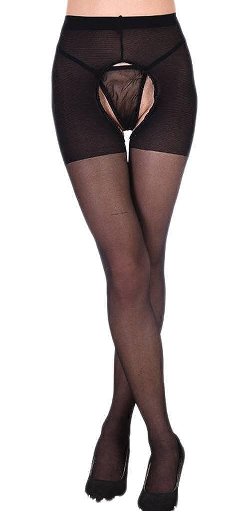 Jixin4you Women Open Crotch Soft Tights Elastic Pantyhose Legging Stockings JX4U614G002