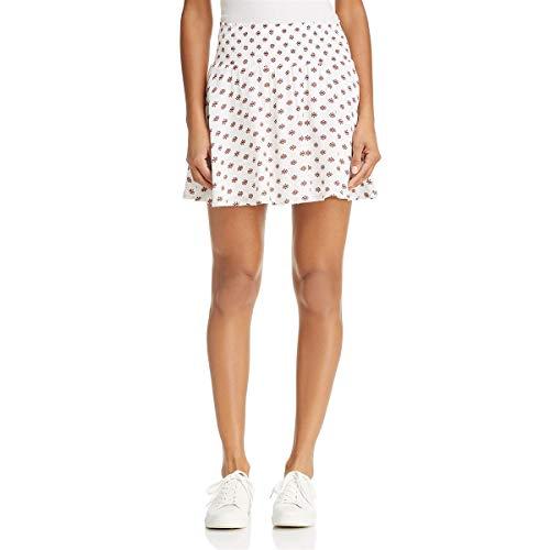 (Jack by BB Dakota Womens Falana Casual Printed A-Line Skirt White L)