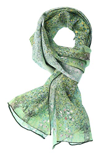 Van Gogh Italian - Salutto Women 100% Silk Scarves Van Gogh Paul Gauguin Monet Painted Scarf (25)